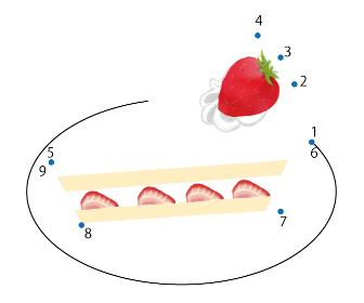 点つなぎ「ケーキ」