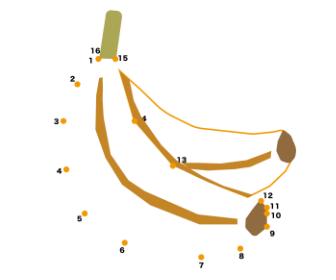 点つなぎ「バナナ」
