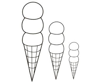 無料ぬりえプリント「アイスクリーム」