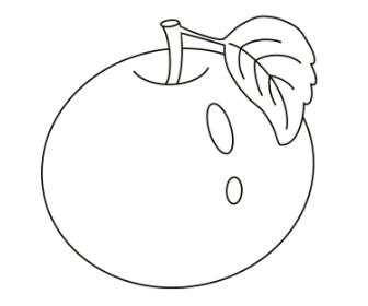 無料ぬりえプリント「りんご」