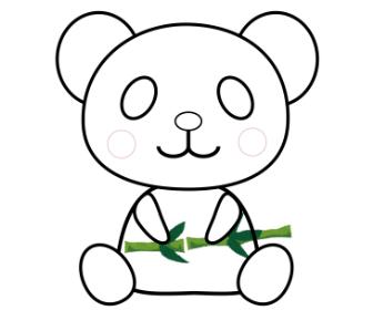 無料ぬりえプリント「パンダ」