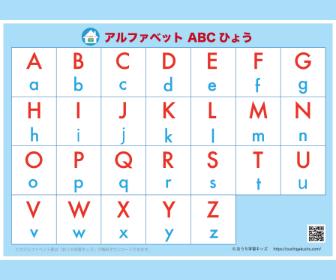 アルファベット表(ABC表)文字のみ・ブルー